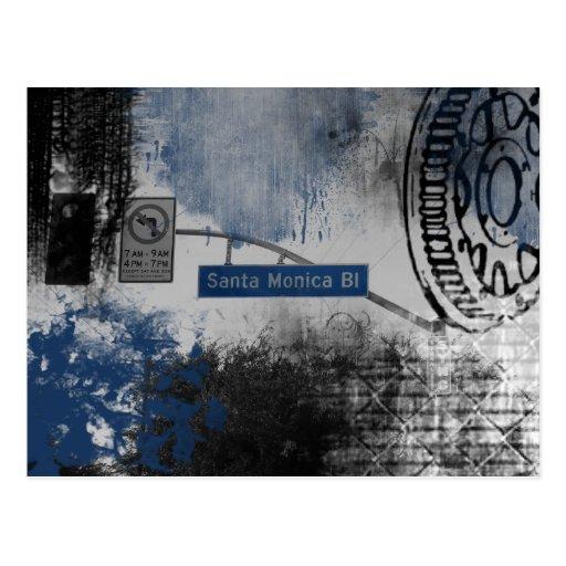 Santa Monica Bl Sign Postcards