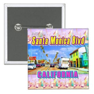 """Santa Monica Blvd 1"" Button"