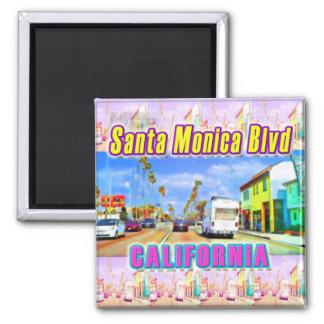 """""""Santa Monica Blvd 1"""" Magnet Fridge Magnet"""