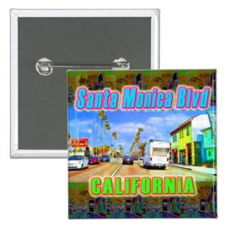 """Santa Monica Blvd 2"" Button"
