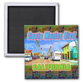 """Santa Monica Blvd 2"" Magnet Magnets"