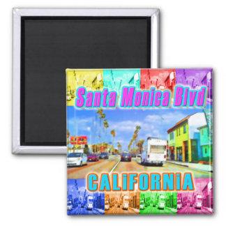 """""""Santa Monica Blvd 3""""  Magnet Refrigerator Magnets"""