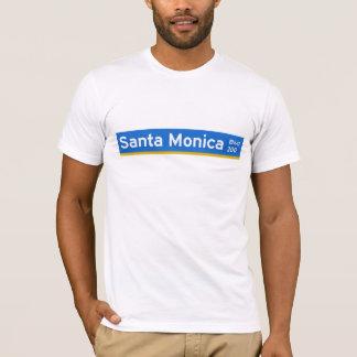Santa Monica Boulevard, Los Angeles, CA Street Sig T-Shirt