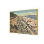 Santa Monica, CA - Beach Scene Along Palisades Canvas Print