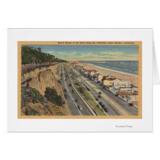 Santa Monica, CA - Beach Scene Along Palisades Card