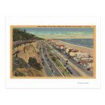 Santa Mónica, CA - escena de la playa a lo largo d Tarjetas Postales
