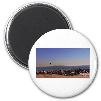 Santa Monica, CA Oceanview 2 Inch Round Magnet