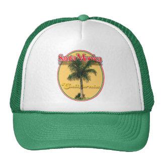 Santa Monica CA palm cap Trucker Hat