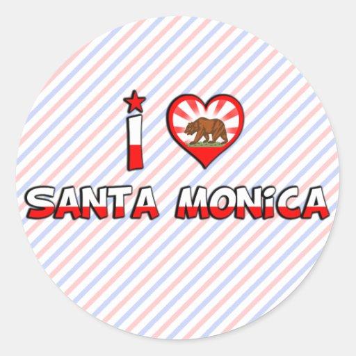 Santa Mónica, CA Pegatina Redonda