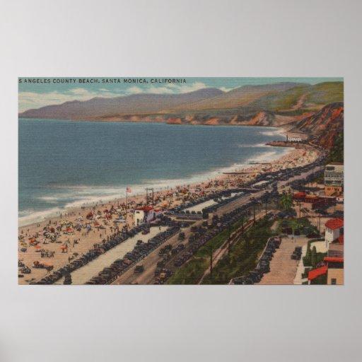 Santa Mónica, CA - playa Scen del condado de Los A Impresiones
