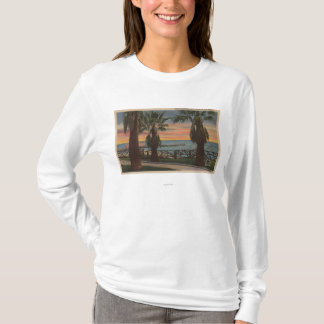 Santa Monica, CA - Yacht Harbor and Sunset View T-Shirt