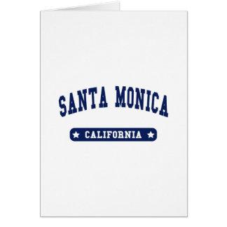 Santa Monica California College Style tee shirts Card
