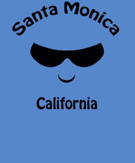 Santa Monica California Cool Sunglasses T-shirt