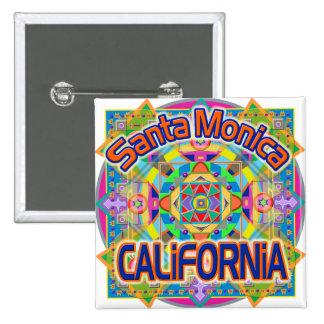 Santa Monica CALIFORNIA Happy Button