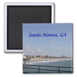 Santa Mónica, California Imán Cuadrado