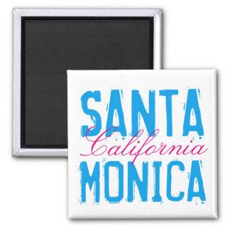 Santa Mónica California Imán Cuadrado