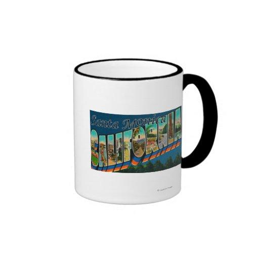 Santa Monica, California - Large Letter Scenes Mugs