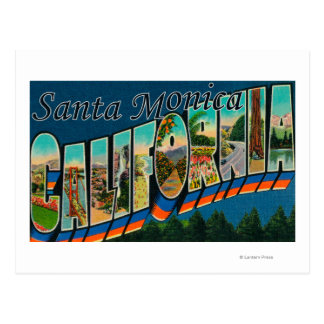 Santa Monica, California - Large Letter Scenes Postcard