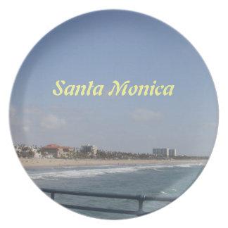 Santa Monica, California Melamine Plate