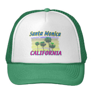 Santa Monica California Palm & Beach Hat