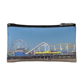 Santa Monica California Pier Makeup Bags