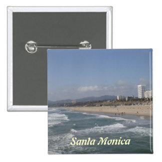 Santa Mónica, California Pin Cuadrada 5 Cm