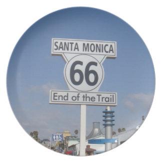 Santa Monica, California - RT 66 Dinner Plate