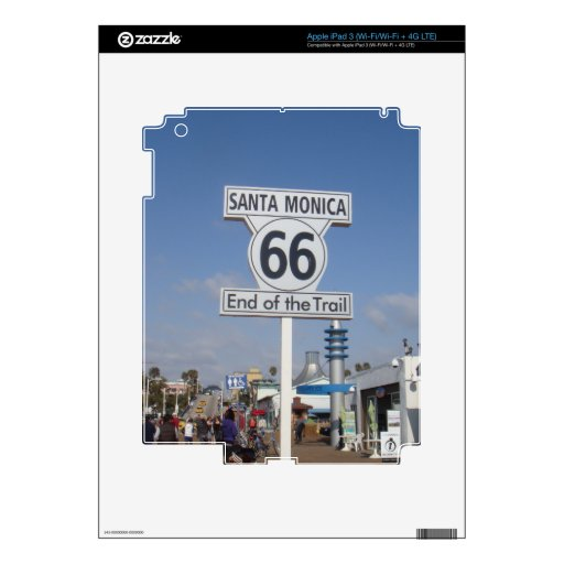 Santa Monica, California - RT 66 iPad 3 Skin