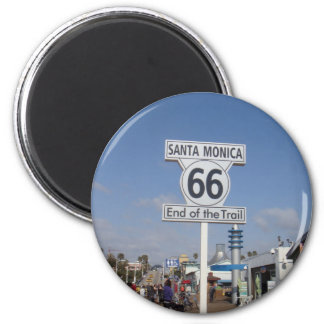 Santa Monica, California - RT 66 Magnet