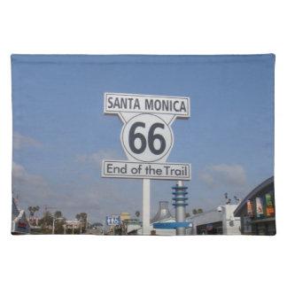 Santa Mónica, California - RT 66 Manteles Individuales