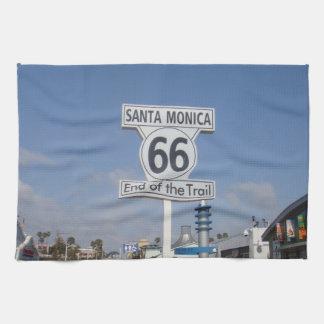 Santa Mónica, California - RT 66 Toalla De Cocina