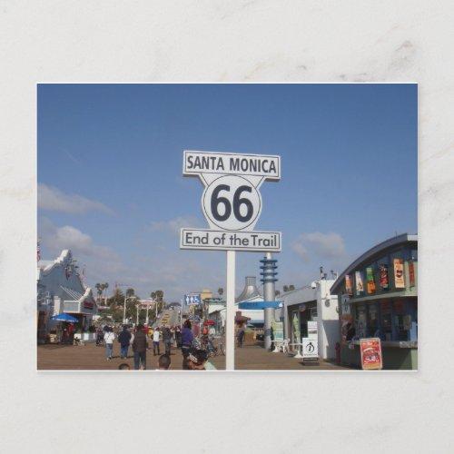 Santa Monica California _ RT 66 Postcard