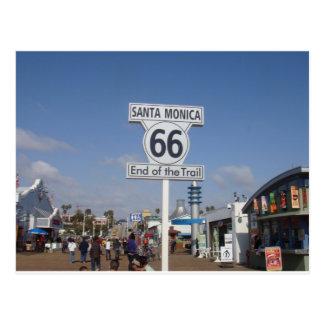 Santa Monica, California - RT 66 Postcard