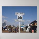 Santa Mónica, California - RT 66 Póster