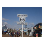 Santa Monica, California - RT 66 Print