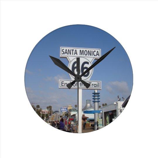 Santa Monica, California - RT 66 Round Clock