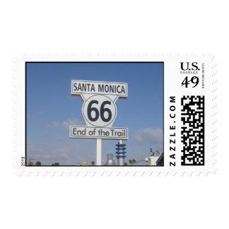 Santa Monica, California - RT 66 Stamp