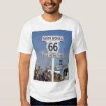 Santa Monica, California - RT 66 T Shirt