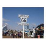 Santa Mónica, California - RT 66 Tarjeta Postal