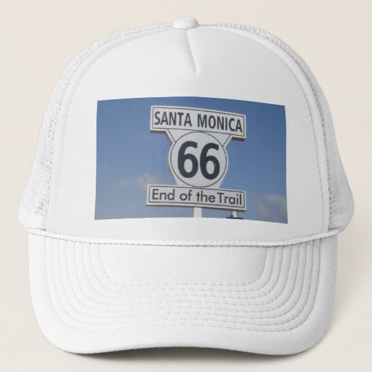 Santa Monica, California - RT 66 Trucker Hat