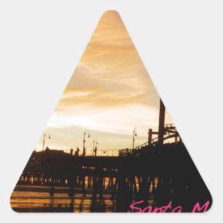 Santa Monica California Triangle Sticker