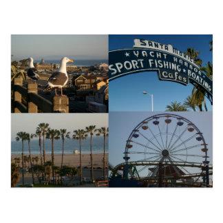 Santa Monica Collage Postcard