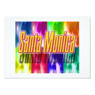 """Santa Monica"" Colorful Palms Invitation Card"