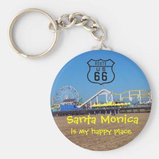 Santa Monica Happy Place Keychain