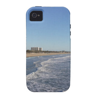 Santa Mónica, línea de la playa de CA Vibe iPhone 4 Carcasa