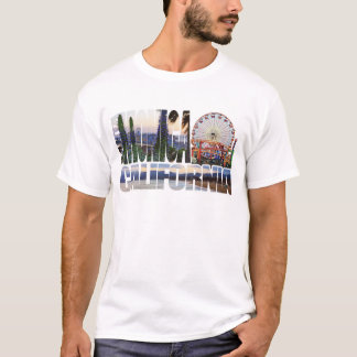 Santa Monica logo flowers pier beach T-Shirt