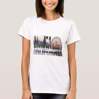 Santa Monica logo flowers pier beach T-Shirt