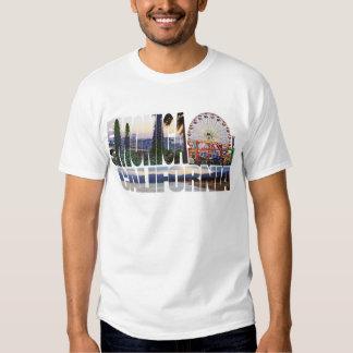 Santa Monica logo flowers pier beach Tee Shirt