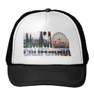 Santa Monica logo flowers pier beach Trucker Hat