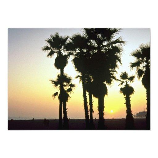 Santa Mónica, Los Ángeles, California, los Invitación 12,7 X 17,8 Cm